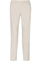 Isabel Marant Becka Leather Straight Leg Pants White