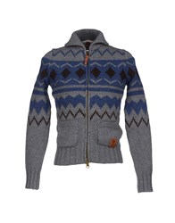 Franklin And Marshall Knitwear Cardigans Men Grey