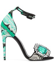 Pierre Hardy 'Mega Gem' Sandals Green