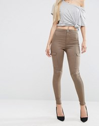 Asos Rivington Jeggings In Walnut Brown And Side Pockets Walnut Brown