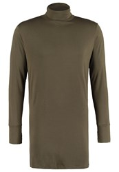Boom Bap Evasive Long Sleeved Top Oliv