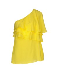 Space Style Concept Topwear Tops Women Yellow