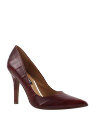 Kay Unger Ainsly Wine Eelskin Pumps