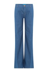 Mih Jeans Loon Pants Wide Leg Jeans Blue