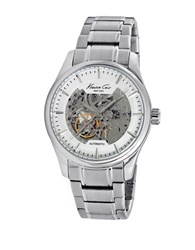 Kenneth Cole Automatic Skeleton Stainless Steel Watch 10027200 Silver