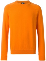 Paul Smith Ps By Crew Neck Jumper Yellow Orange
