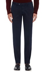 Isaia Men's Cotton Twill Trousers Navy