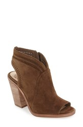 Vince Camuto Women's 'Koral' Perforated Open Toe Bootie Wood Suede