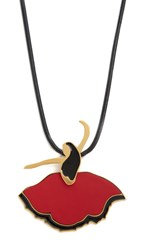 Marni Leather Necklace Red