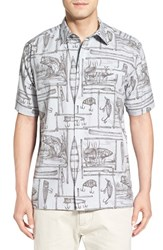 Men's Quiksilver Waterman Collection 'Angler' Regular Fit Print Camp Shirt