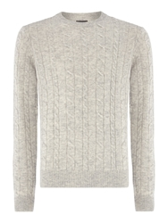 Howick Andover Cable Crew Neck Cloud