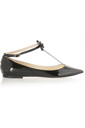 Jimmy Choo Glaze Patent Leather Point Toe Flats