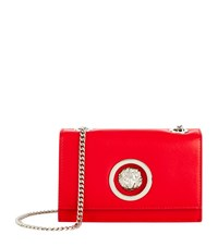 Versus By Versace Versus Versace Mini Flap Chain Calf Shoulder Bag Female Red