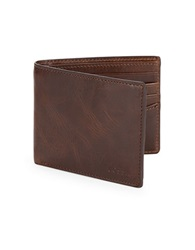 Fossil Derrick Rfid Blocking Flip Id Bifold Brown
