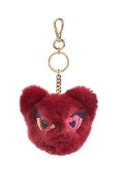 Karl Lagerfeld Rabbit Fur Keychain Red