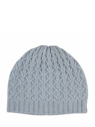 Johnstons Of Elgin Cashmere Quilted Texture Hat Grey