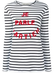 Etre Cecile Striped Longlseeved T Shirt White