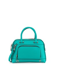 Milly Astor Pebbled Dome Satchel Bag Turquoise
