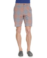 Robert Graham Wanderer Check Patterned Shorts Red