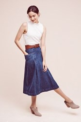 Anthropologie Orleans Denim Skirt Tinted Denim