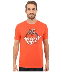 Life Is Good Keep It Simple Rainbow Palm Cool Tee Flame Orange Men's T Shirt
