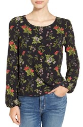 Leith Women's Floral Print Bell Sleeve Top