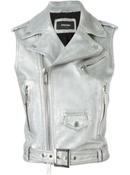 Dsquared2 Metallic Biker Gilet