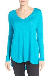 Women's Two By Vince Camuto Slub Knit Side Slit High Low Tee