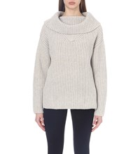 Reiss Langley Turtleneck Knitted Jumper Oatmeal