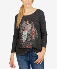 Lucky Brand Long Sleeve Graphic T Shirt Jet Black
