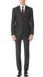 Hardy Amies Birdseye Brinsley Suit Charcoal