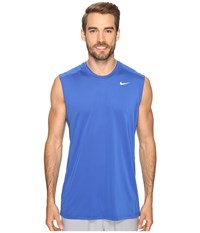 Nike Dri Fit Base Layer Fitted Cool Sleeveless Top Game Royal White Men's Sleeveless Black