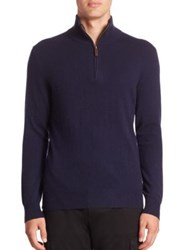 Polo Ralph Lauren Cashmere Half Zip Sweater Hunter Navy