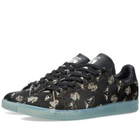 Adidas Consortium X Pharrell X Bbc Stan Smith 'Pony Hair' Core Black And Light Aqua
