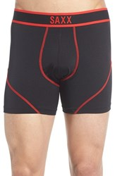 Saxx Men's 'Kinetic' Stretch Boxer Briefs Black Red