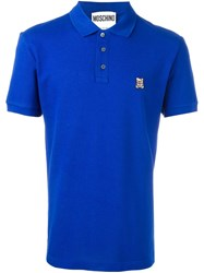 Moschino Toy Bear Polo Shirt Blue
