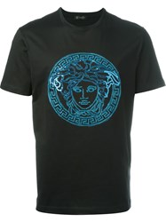 Versace Sequin Medusa T Shirt Black