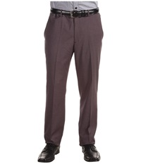 Perry Ellis Slim Fit Solid Pant Grey Heather Men's Dress Pants Gray