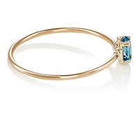 Loren Stewart Women's Topaz Thin Band Ring No Color