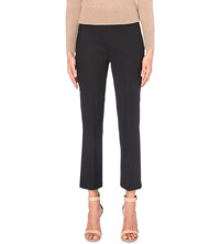 Max Mara Strech Wool Cropped Trousers Black