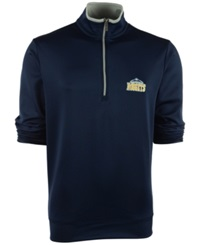 Antigua Men's Denver Nuggets Leader Pullover Navy Silver