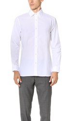 Club Monaco Slim Dress Poplin Shirt White