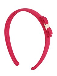Salvatore Ferragamo Logo Bow Cotton Grosgrain Headband