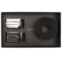 Ted Baker Revinit Leather Belt And 2 Alloy Buckles Box Set