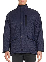 Rainforest Diamond Quilted Long Sleeve Jacket Ink