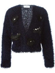Toga Pulla Fringed Embellished Cardigan Blue