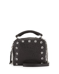 Ash Star Studded Frankie Leather Crossbody Bag Black
