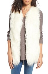 Hinge Women's Faux Fur Vest Cream Combo