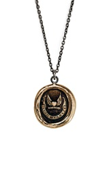 Pyrrha 'Never Look Back' Talisman Pendant Necklace Bronze