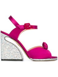 Charlotte Olympia 'Vreeland' Sandals Pink And Purple
